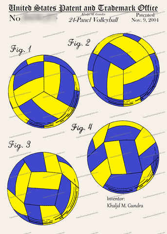 CARD-C997: Volleyball - Patent Press™