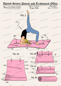 CARD-C998: Yoga Mat - Patent Press™