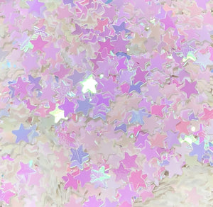 Wishes White Opal Stars Glitter