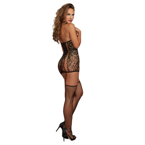 0331 Dreamgirl Lace Garter Dress with Stockings