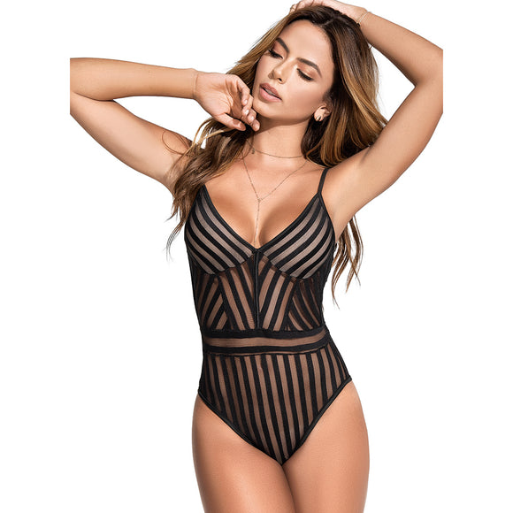 2591 Mapale Black Bodysuit