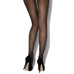 CHA889 Charnos Crystal Backseam Tights