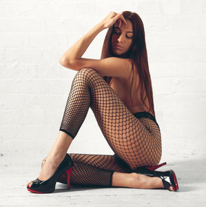 FOOTL015 Elegant Moments Fence Net Footless Tights