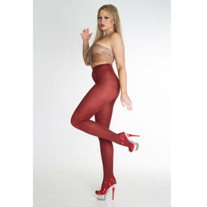 EL456 Essexee Legs Ribbed Microfibre Tights Rust