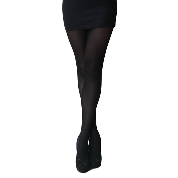EL789 Essexee Legs 40D Opaque Tights with Weather Sensor. Black.