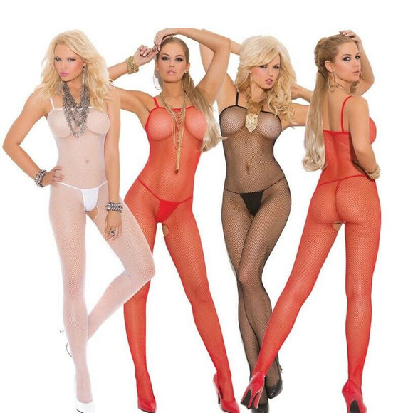 EM1605 Elegant Moments Seamless Fishnet Bodystocking