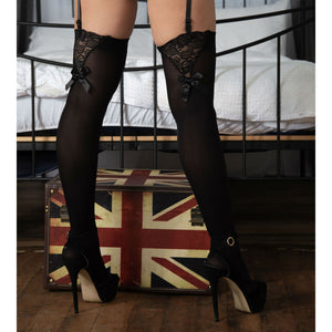 EM304 Elegant Moments Opaque Stockings with Lace Insert