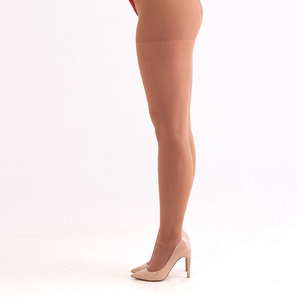 EL604 Essexee Legs Plus Size 20D Airflow Tights Colour: Natural