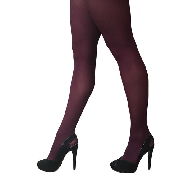 JA600 Jonathan Aston 40D Opaque Tights. Ruby.