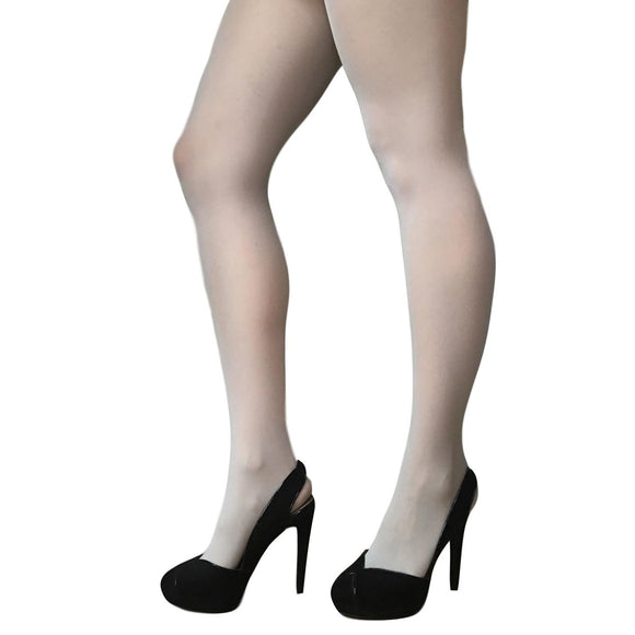 JA600 Jonathan Aston 40D Opaque Tights Silver
