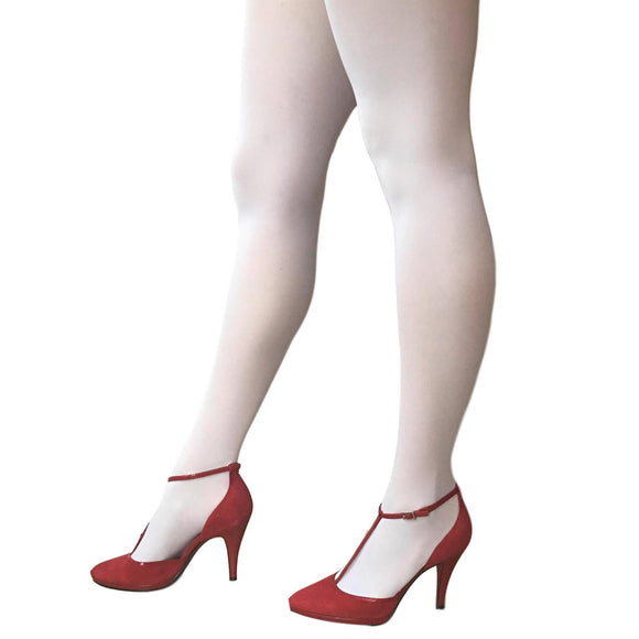 JA600 Jonathan Aston 40D Opaque Tights. White