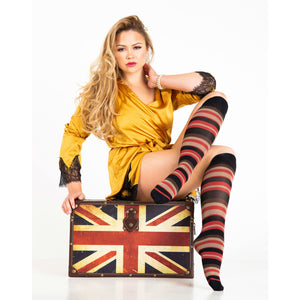 KNEE111 Trasparenze Altman Striped Knee High Socks