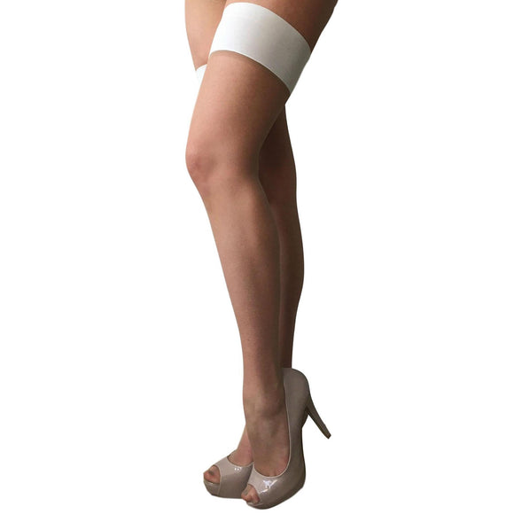 CHA827 Charnos 10D Bridal Satin Hold-Ups