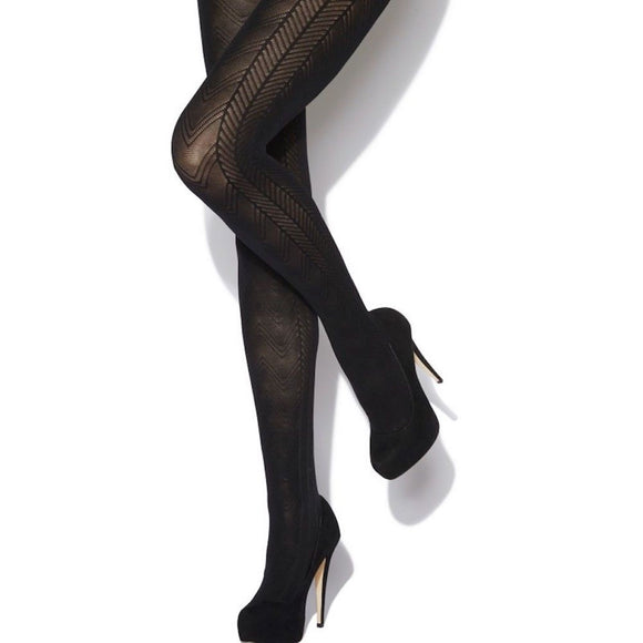 WW620 Charnos Chevron Opaque Tights