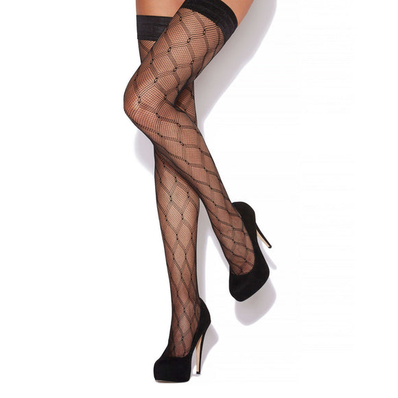 CHA887 Charnos Diamond Net Hold-Up Stocking