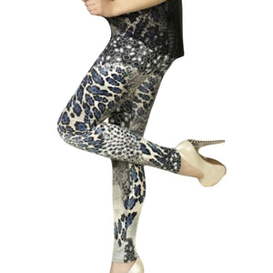 CHILI_BLU Chilirose Snake Print Leggings Blue
