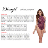D0323 Dreamgirl Black Stretch Fishnet Bodystocking