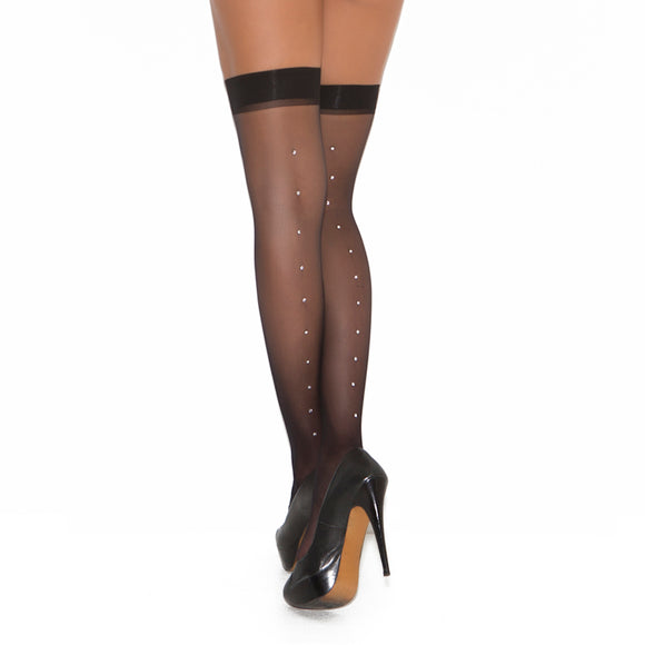 EM302 Elegant Moments Stockings with Rhinestone Seams