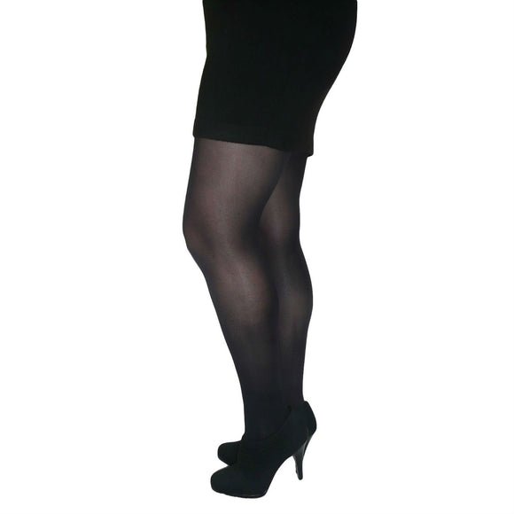 EL528 Essexee Legs 40D Plus Size Opaque Tights Black