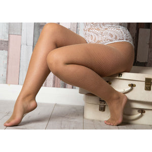 EL618 Essexee Legs Plus Size Natural Fishnet Tights