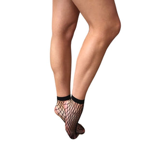 ANK108 Gipsy Medium Net Ankle High Socks
