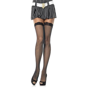 LA78 Leg Avenue Lace Top Fishnet Stockings