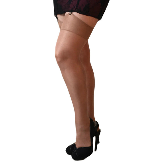 EL287 Essexee Legs 15D Gloss Garter-Stockings