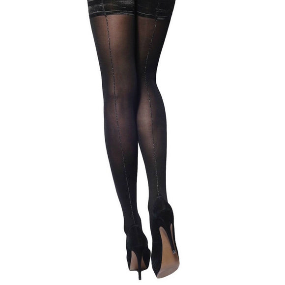 CHA847 Charnos Opaque Lurex Seam Hold-Ups