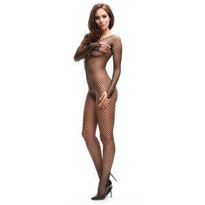 B700 MissO Fishnet Open-Gusset Bodystocking