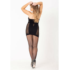 CHA888 Charnos Back Seam Net Tights