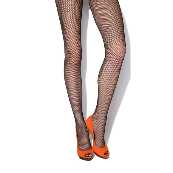 JA499 Jonathan Aston Fishnet Tights. Black & Natural