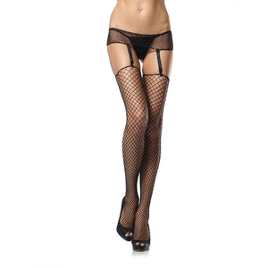 LING050 Leg Avenue Industrial Net Garterbelt and Stocking Set