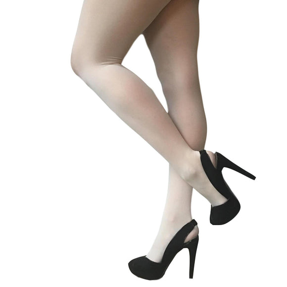 JA600 Jonathan Aston Simply Colour 40D Opaque Tights. Ivory.
