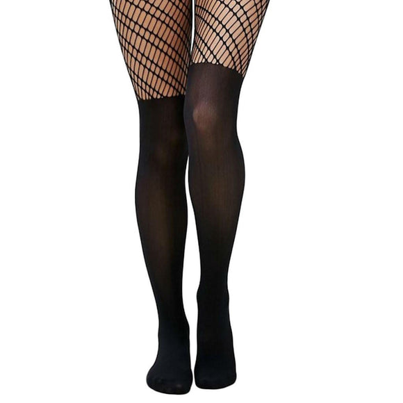 JA419 Jonathan Aston Opaque and Net Tights