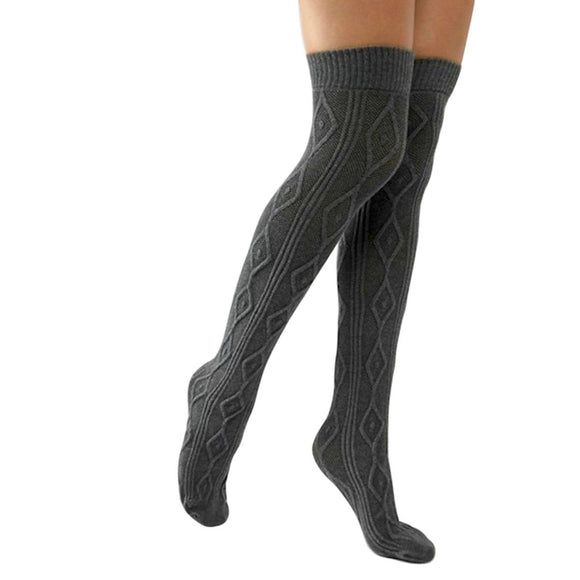 OKS163 Jonathan Aston Chunky Knit Long Socks