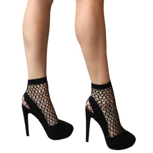 ANK123 Jonathan Aston Echo Fishnet Ankle Socks