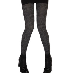 WW624 Jonathan Aston Textured Check Winter Tights