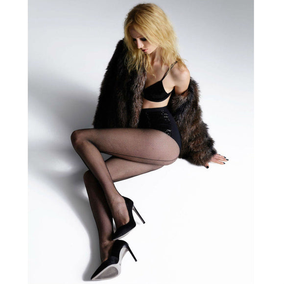 JA456 Jonathan Aston Seamed Fishnet Tights