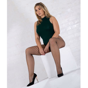 JA594 Jonathan Aston Midi-Net Fishnet Tights