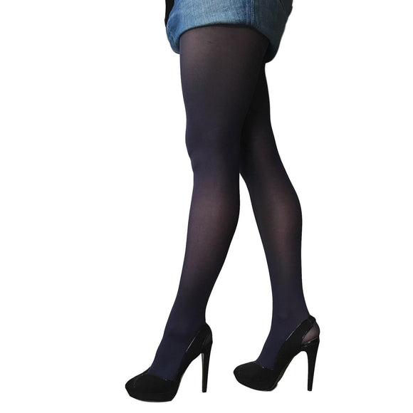 JA600 Jonathan Aston 40D Colour Opaque Tights Navy