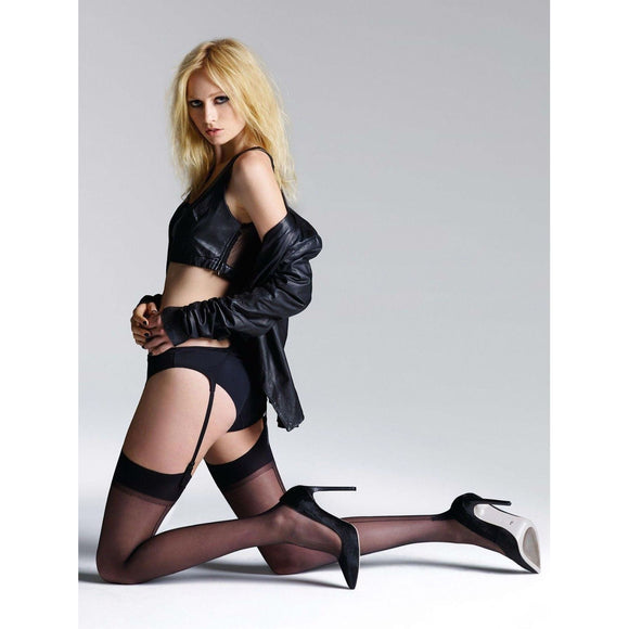 JA497 Jonathan Aston Seam Stockings & Suspender Set