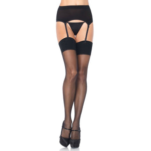LING058 Leg Avenue Garter Belt and Stockings Set