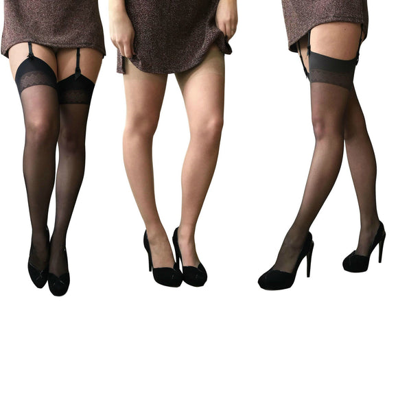 LEV690 Levante Vanessa 15 Denier Suspender Stockings