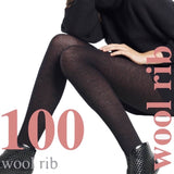 WW618 Levante 100D Wool Rib Tights