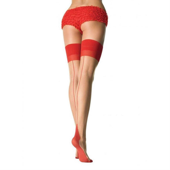 LA60 Leg Avenue Red Seam and Heel Stockings