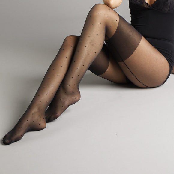 JA400 Jonathan Aston Spot Seam Tights