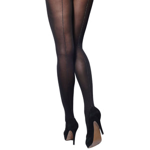 56b4aae8204 CHA846 Charnos Opaque Sparkle Seam Tights – Essexee Legs