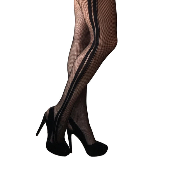 JA615 Jonathan Aston Dual-Net Fishnet Tights