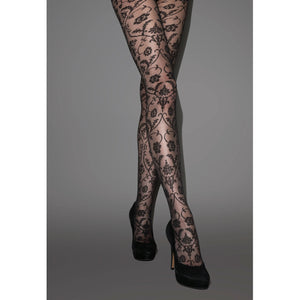 JA616 Jonathan Aston Baroque Lace Tulle Tights