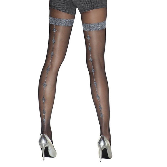 TRAS033 Trasparenze Lurex Seam Tights